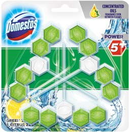 Domestos Power 5 Green Tea & Citrus WC blok 3 x 55g