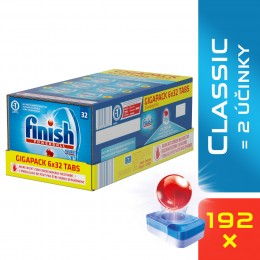 Finish Classic tablety do myčky GIGAPACK 192 ks