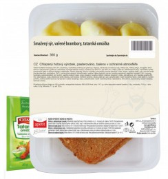 Apetit Smažený sýr, vařené maštěné brambory, tatarská omáčka