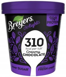 Breyers Delights Creamy Chocolate proteinová zmrzlina v kelímku