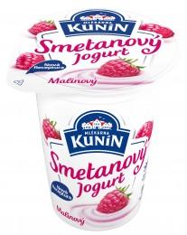 Mlékárna Kunín jogurt smetanový malinový