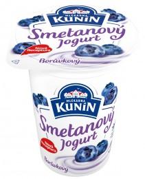 Mlékárna Kunín jogurt smetanový borůvkový