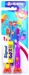 Signal dětský zubní kartáček (2-6 let) měkký, 3ks