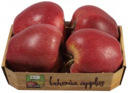 Bohemia Apples jablko Red Delicious, pack 4ks