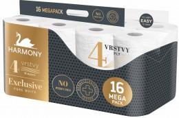 Harmony Exclusive pure white toaletní papír, 16,8 metru, 4 vrstvý, 16ks