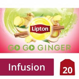 Lipton Ovocný aromatizovaný čaj Go Go Ginger 20 sáčků