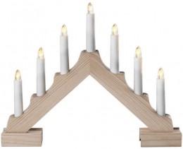 EMOS LED svícen přírodní s časovačem vánoční dekorace