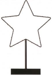 EMOS LED hvězda s časovačem vánoční dekorace