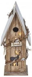 EMOS LED domek dřevěný s časovačem vánoční dekorace 1ks