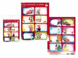 Samolepky na dárky vánoční Disney 16ks