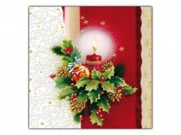 Ubrousek s vánočním motivem 33x33 cm