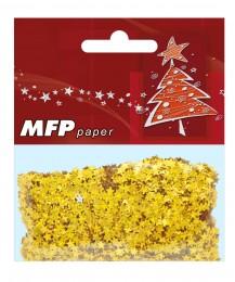 Vánoční konfety Hvězdy zlaté metalické