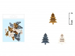 Vánoční dekorace Stromeček 24ks