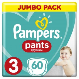 Pampers Pants plenkové kalhotky Midi 6-11kg Jumbo Pack (velikost 3) 60ks