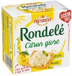 Président Rondelé s citronem a bazalkou