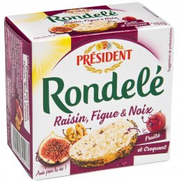 Président Rondelé s s fíky, rozinkami a ořechy