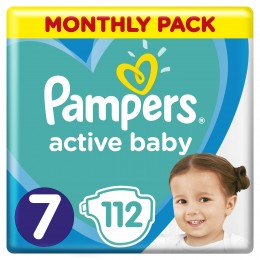 Pampers Active Baby 15+kg (velikost 7) 112ks