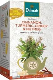 Dilmah Čaj bylinný Rooibos Cinnamon, Turmeric, Ginger & Nutmeg