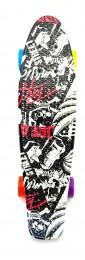 Skateboard - pennyboard 60cm s černo-červeným potiskem