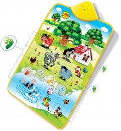Elektronická hrací podložka Krtek a zvířátka, 42x61 cm