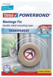 Tesa Montážní páska Powerbond průhledná 1,5 m x 19 mm