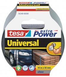 Tesa Textilní univerzální opravná páska stříbrná 10 m x 50 mm
