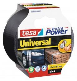 Tesa Textilní univerzální opravná páska černá 50mm x 10m
