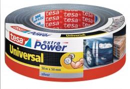 Tesa Textilní univerzální opravná páska stříbrná 50 m x 50 mm