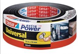 Tesa Textilní univerzální opravná páska černá 50 m x 50 mm