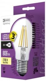 EMOS LED žárovka Filament A60 6W (náhrada 60W), E27, teplá bílá