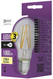 EMOS LED žárovka Filament A60 8W (náhrada 75W), E27, teplá bílá