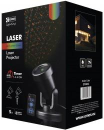 Vánoční laserový dekorativní projektor (zelená, červená) 1ks