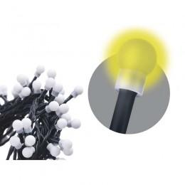 EMOS LED vánoční světýlka s časovačem - kuličky, teplá bílá, délka 48m