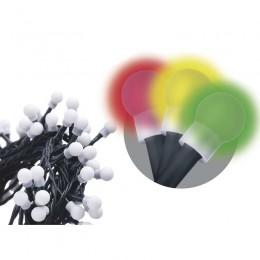 EMOS LED vánoční světýlka s časovačem - kuličky, barevná, délka 48m