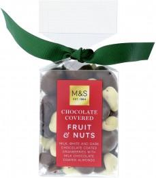 Marks & Spencer Brusinky v mléčné, bílé a hořké čokoládě a jádra mandlí v mléčné čokoládě