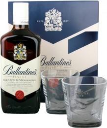 Ballantines 0,7l + 2 skleničky