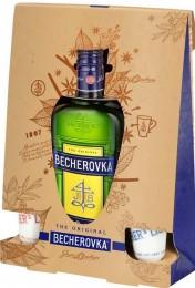 Becherovka 38% 0,5l + 2 kalíšky