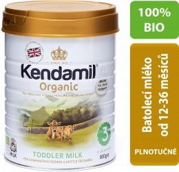 Kendamil 100 % BIO plnotučné batolecí mléko 3