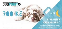 Dogpoint o.p.s. - Certifikát v hodnotě 700 Kč