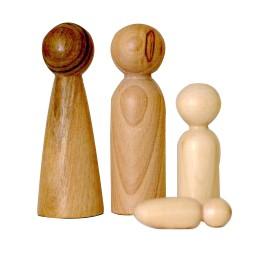 Pikle Figurky z tvrdého dřeva