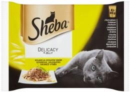 Sheba Drůbeží výběr kompletní krmivo pro dospělé kočky 4x85 g