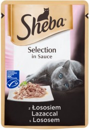 Sheba Selection in Sauce s lososem