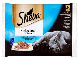 Sheba Selection kapsičky pro kočky Rybí výběr v omáčce 4 × 85g