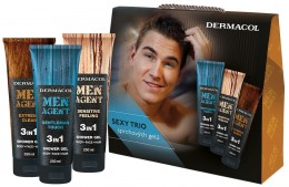 Dermacol SET Men Agent Mix pánských sprchových gelů