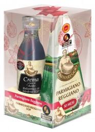 Parmigiano Reggiano parmezán CHOP 250g zrání 30 měsíců + Krém s balzamikovým octem Modena CHZO 250 ml