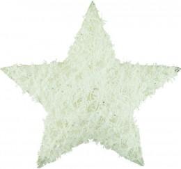 Hvězda látková bílá (vhodná k zavěšení) , 25cm