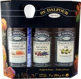 DRUID St. Dalfour 3 pack + lžička (pomeranč se zázvorem, brusinka a borůvka, fík)