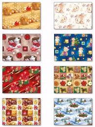 Balící papír vánoční klasik archy v roli, 100x70cm, 2ks