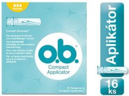 o.b. Compact Normal tampony s aplikátorem 16ks