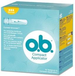 o.b. Compact Normal s aplikátorem Tampony 16 ks